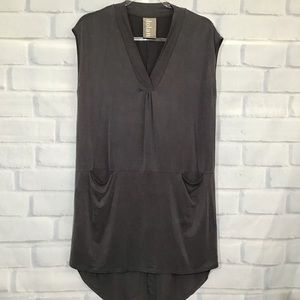Anthro Dolan Left Coast Gray Knit Tunic Dress